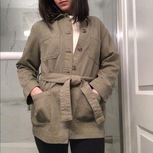 H&M | Khaki Denim Jacket 💚